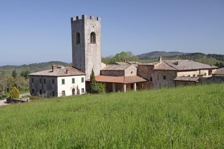 abbazia: Badia a Coltibuono, monastery in Tuscany, Italy, Europe