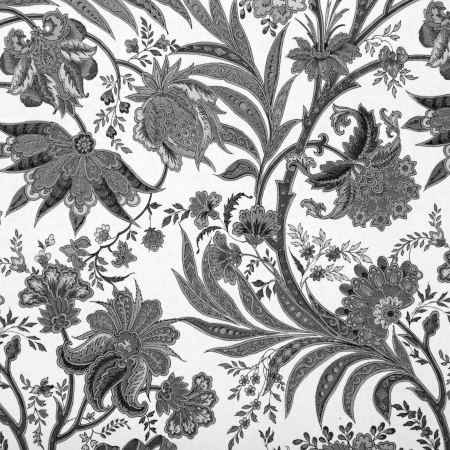 floral black and white damask background Stock Photo