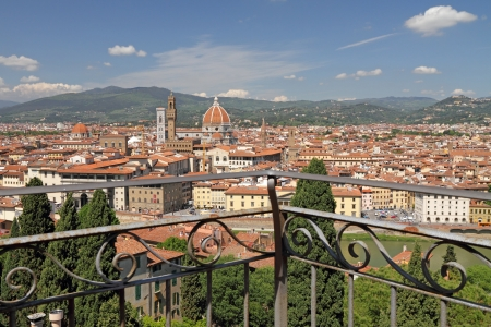 duomo of florence: fantastic view of Florence city from terrace of Villa Bardini, Tuscany, Italy, Europe