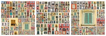 compositions with many windows from different regions of Italy
