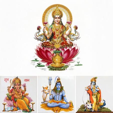 Zusammensetzung mit Hindu-Götter, Indien, Asien Standard-Bild - 14667780