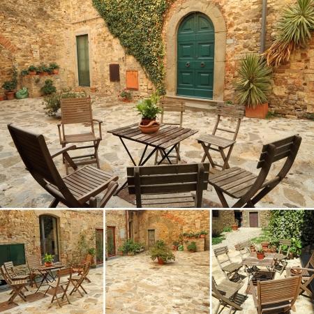 italian terrace, Tuscany, Europe Stock Photo - 14669545