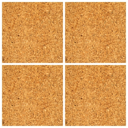 cork board divided in four parts photo