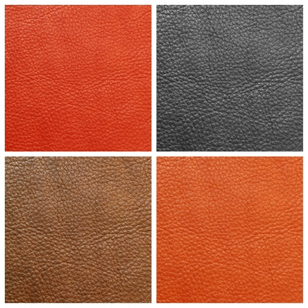 black leather texture: quality leather backgrounds set, Florence, Italy
