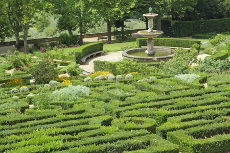 formal garden: Garden of one of the Medici Villas, Petraia, Florence, Italy, Europe