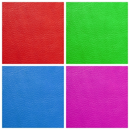 multicolor quality leather set, Milan, Italy, Europe photo
