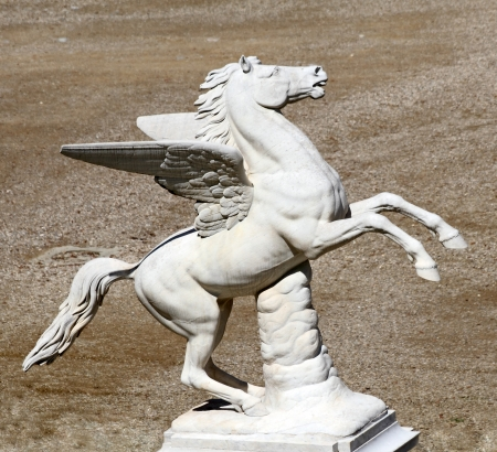 Pegasus sculpture from Boboli Garden, Florence, Italy, Europe photo