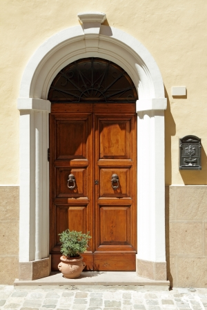 elegant  door framed with arc, Emilia -  Romagna,Italy, Europe Stock Photo - 15182089