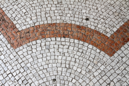 detail of cobblestone pavement in Venice, Italy, Europe photo