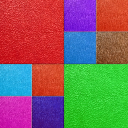 saturate: colorful collage made of colorful leather  backgrounds