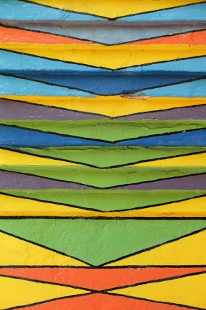 detail of painted wall in Burano village, Venezia, Italy, Europe Stock Photo - 15026552