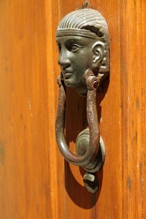 knocker: vintage knocker, Tuscany, Italy, Europe Stock Photo