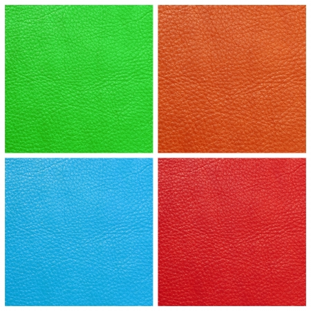 vivid colors leather genuine set Stock Photo - 15440179