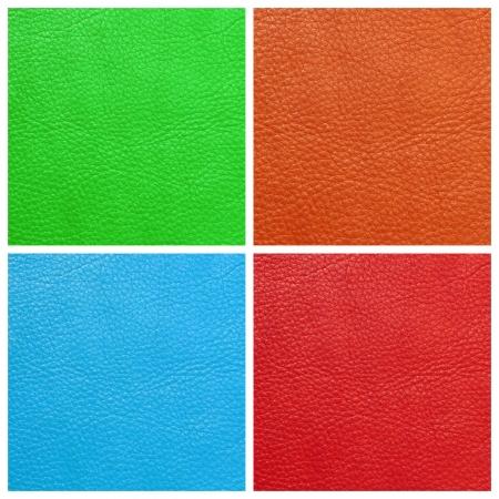 vivid colors leather genuine set Stock Photo - 15440179
