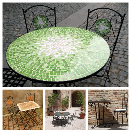 garden furniture collage  photo