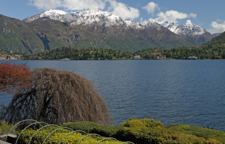 fantastic view: fantastic view of lake Como from Villa Carlotta in Tremezzo, Lomabrdy, Italy, Europe