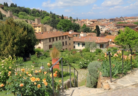 Garden of Roses ( Giardino delle Rose ) and view of Florence, Tuscany, Italy, Europe photo