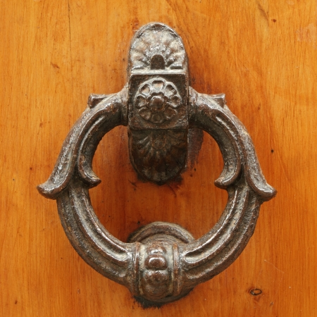 beautiful old door knocker Stock Photo - 17300244