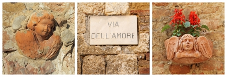 amore: Love street   italian via dell amore   composition , Italy