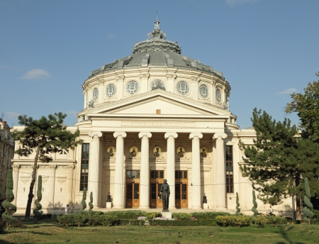 bucharest: The Romanian Athenaeum  Romanian  Ateneul Roman  -  concert hall  of Bucharest, Romania, Europe