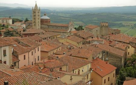 massa: view of beautiful tuscan town Massa Marittima, Italy, Europe