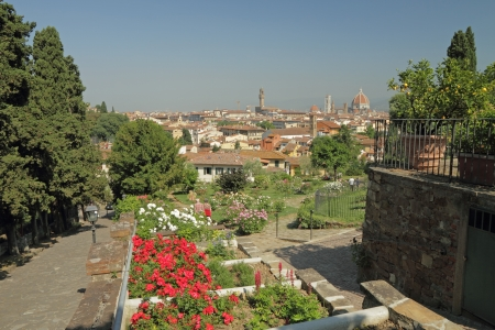 fantastic view: fantastic view of Florence from  Rose Garden   Giardino delle Rose  , Tuscany, Italy, Europe Stock Photo