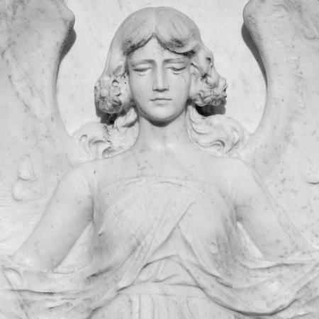 angel cemetery: marble angel figure Stock Photo