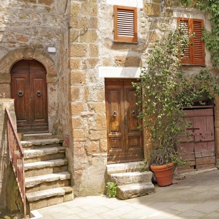 picturesque nook in italian  village Pitigliano, Europe Stock Photo