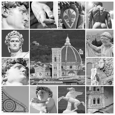 duomo of florence: art of Florence - collage