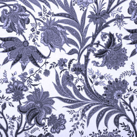 floral blue damask background photo