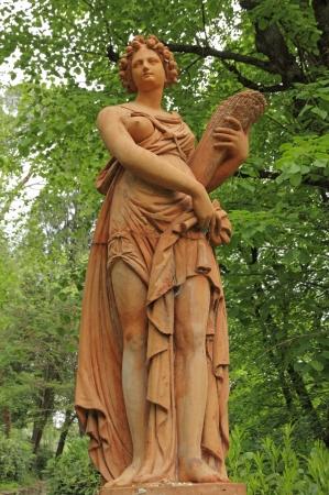 fertility goddess: Statue of Ceres ( greek Demeter ) ancient roman goddess in Stibbert  Gardens  in Florence, Tuscany