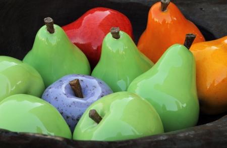 mix fruit: colorful decorative fruits