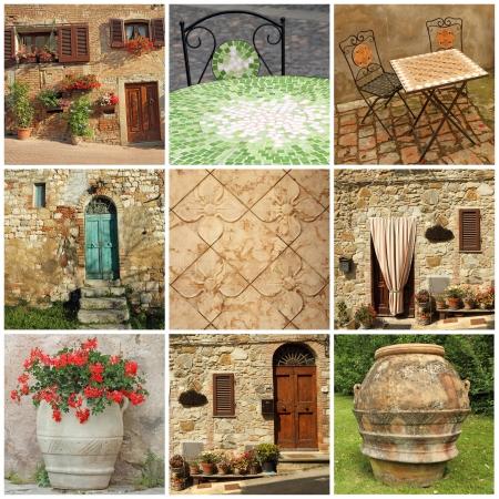 tuscan lifestyle collage, Italy, Europe Stock Photo - 18404886