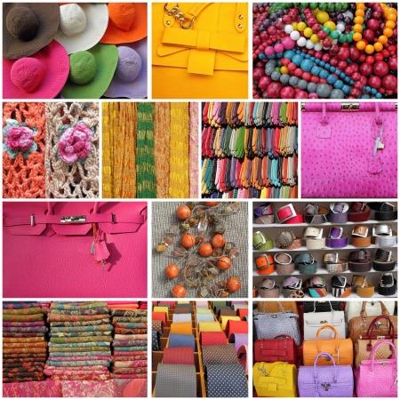 bijoux: accessories collage Stock Photo