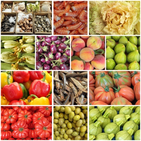 mediterranean diet collage photo