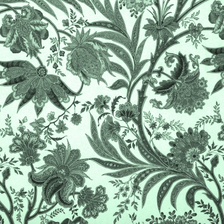 floral retro damask pattern photo