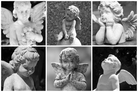 angeles bebe: collage angelical