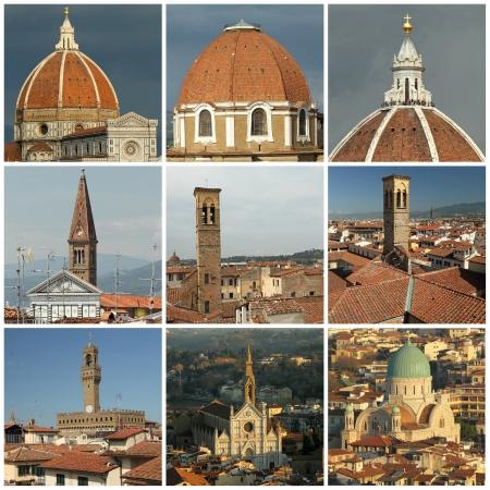 florentine: florentine roofs collage, Florence, Tuscany, Italy, Europe
