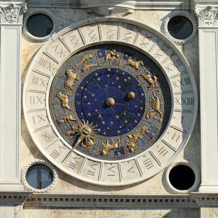 The historic clock face on St Mark photo