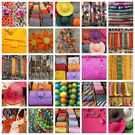 collection of images with women and men accessories photo