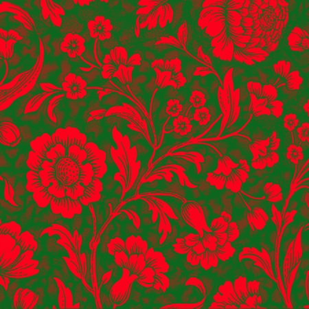red and green floral decorative pattern photo