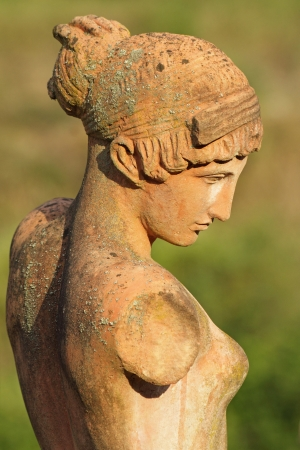 classic beauty, female statue in tuscan terracotta, Florence, Italy Stock Photo