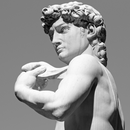 David by  Michelangelo - masterpiece of Renaissance sculpture, Florence, Italy, Europe Stock Photo
