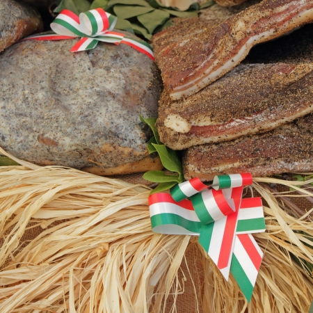 rurale: italian food on EXPO RURALE , fair in Fortezza da Basso in Florence, Tuscany, Italy, Europe