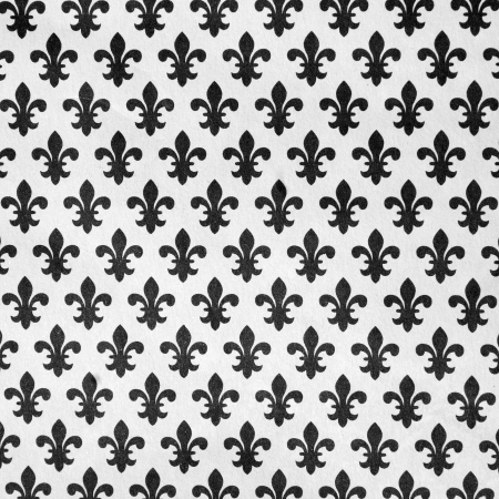 pattern with  black lily symbols on white background photo