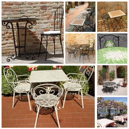 elegant garden furniture collection, Italy photo