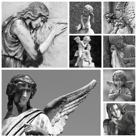 cemetery angel collection photo