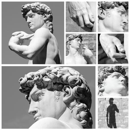 Michelangelo s  David collage
