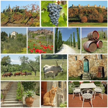 world village: fantastic tuscan countryside collage