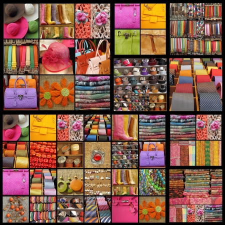 women and men accessories collage  Archivio Fotografico